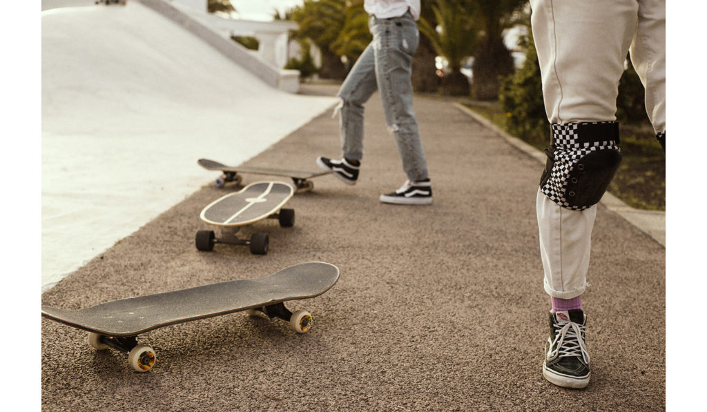 girls skateboarding in fuerteventura